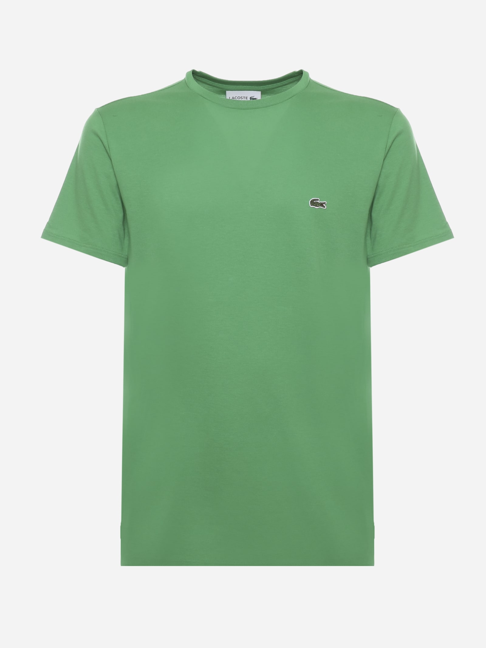 Lacoste GREEN COTTON JERSEY T-SHIRT