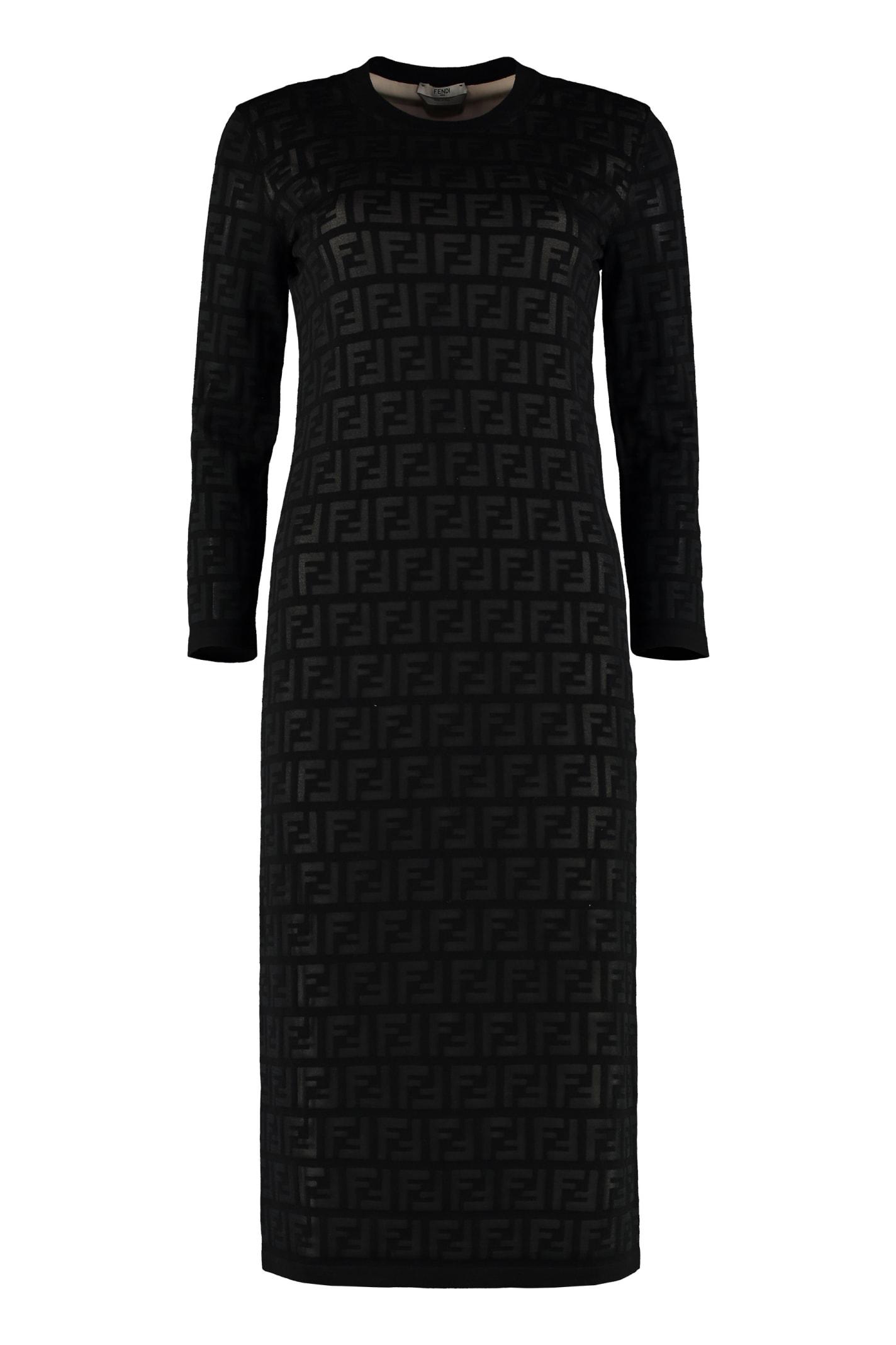 Buy Fendi Knitted Sheath Dress online, shop Fendi with free shipping