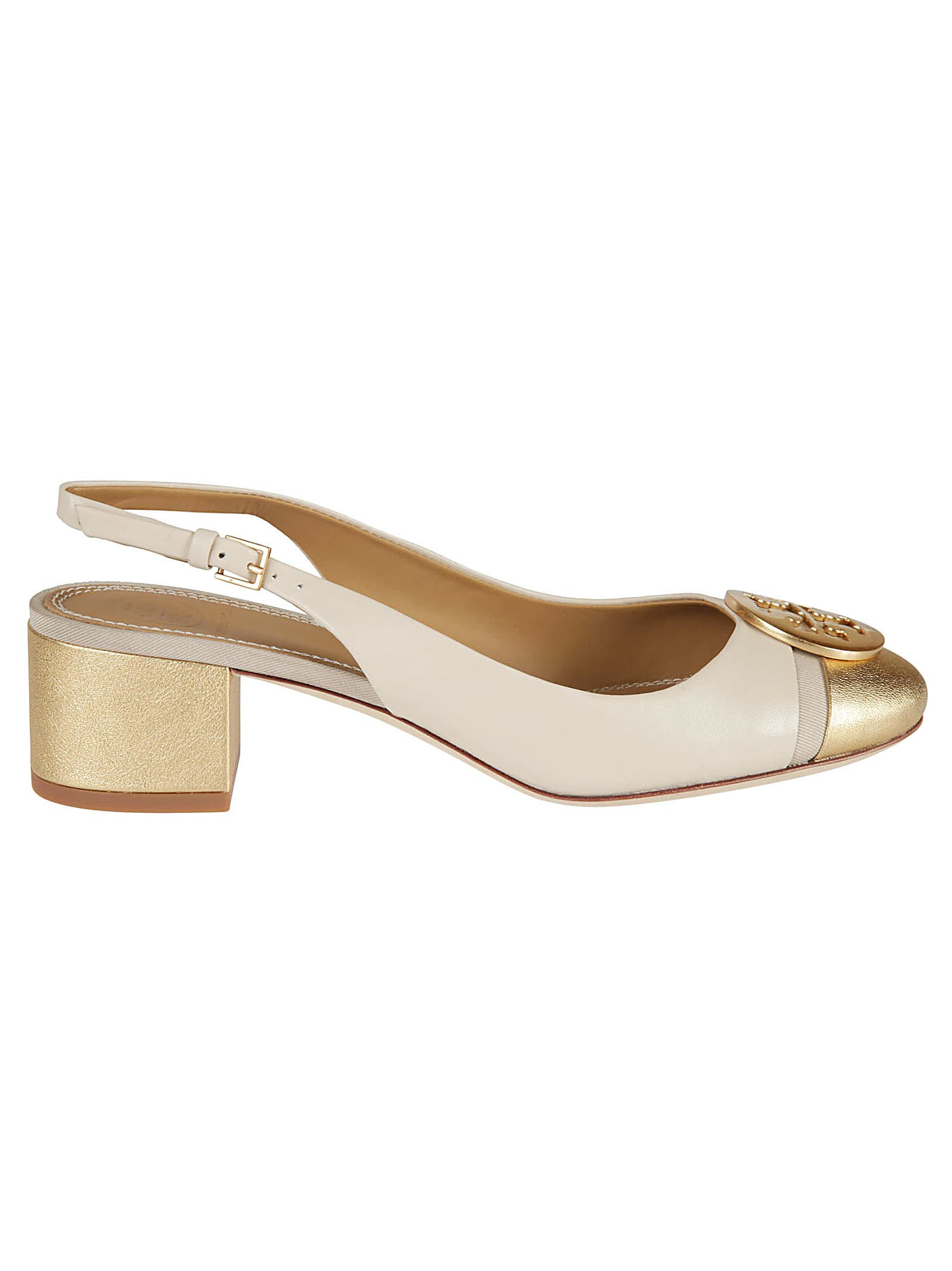Tory Burch Minnie Cap-toe Slingback Pumps