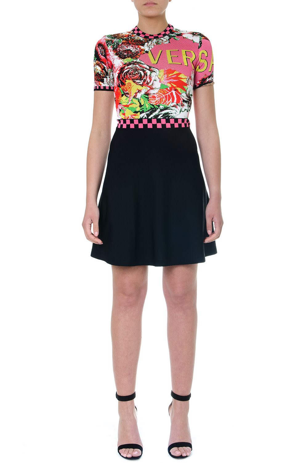 Versace Floramania Printed Dress