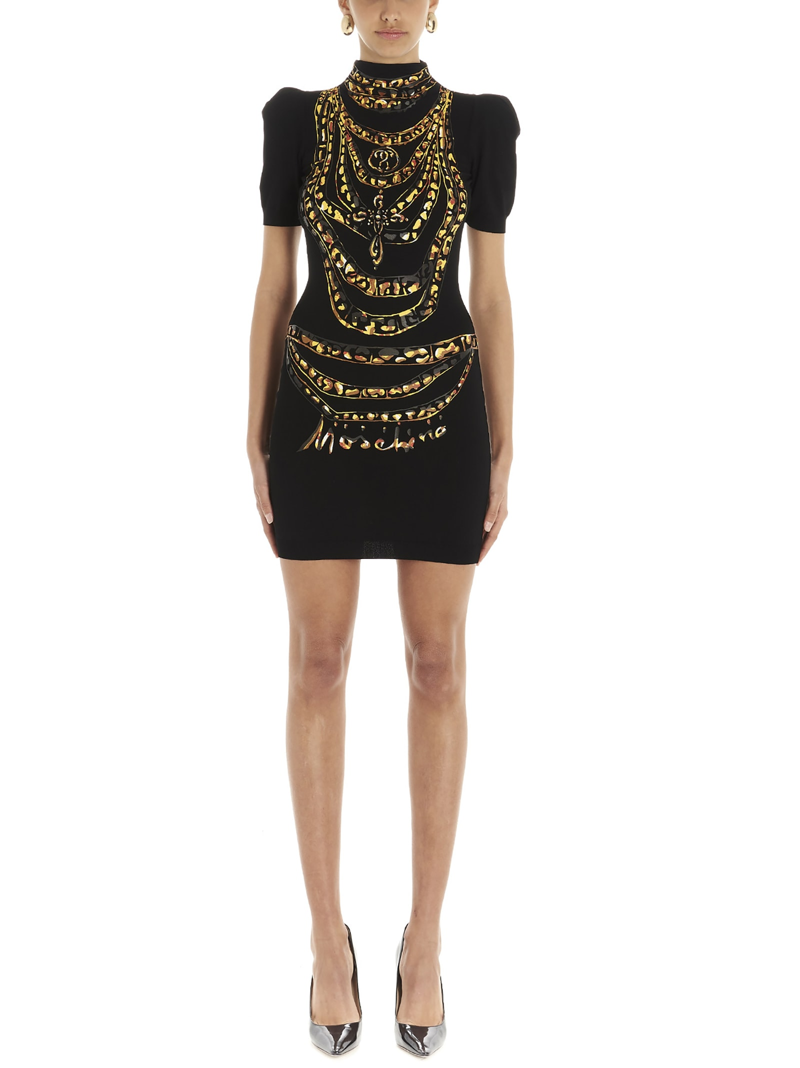 Buy Moschino chain Painted Dress online, shop Moschino with free shipping
