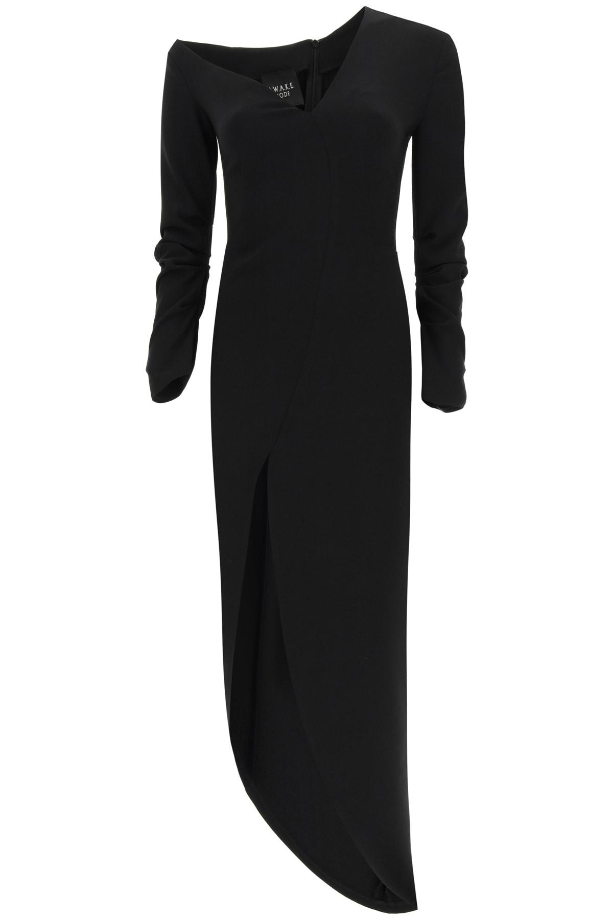 Buy A.W.A.K.E. Mode Asymmetric Dress In Crepe Jersey online, shop A.W.A.K.E. Mode with free shipping