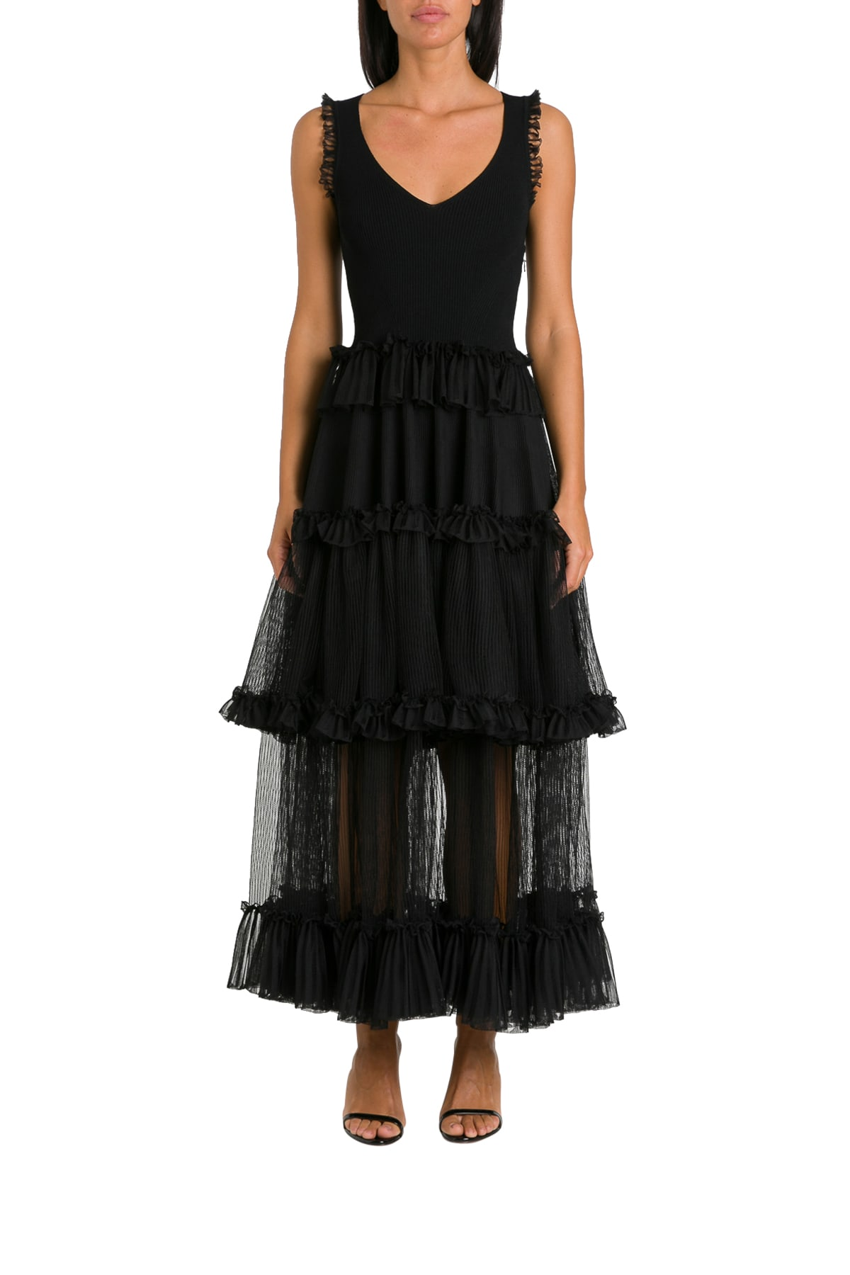 Buy Alexander McQueen Frills And Flounces Dress online, shop Alexander McQueen with free shipping