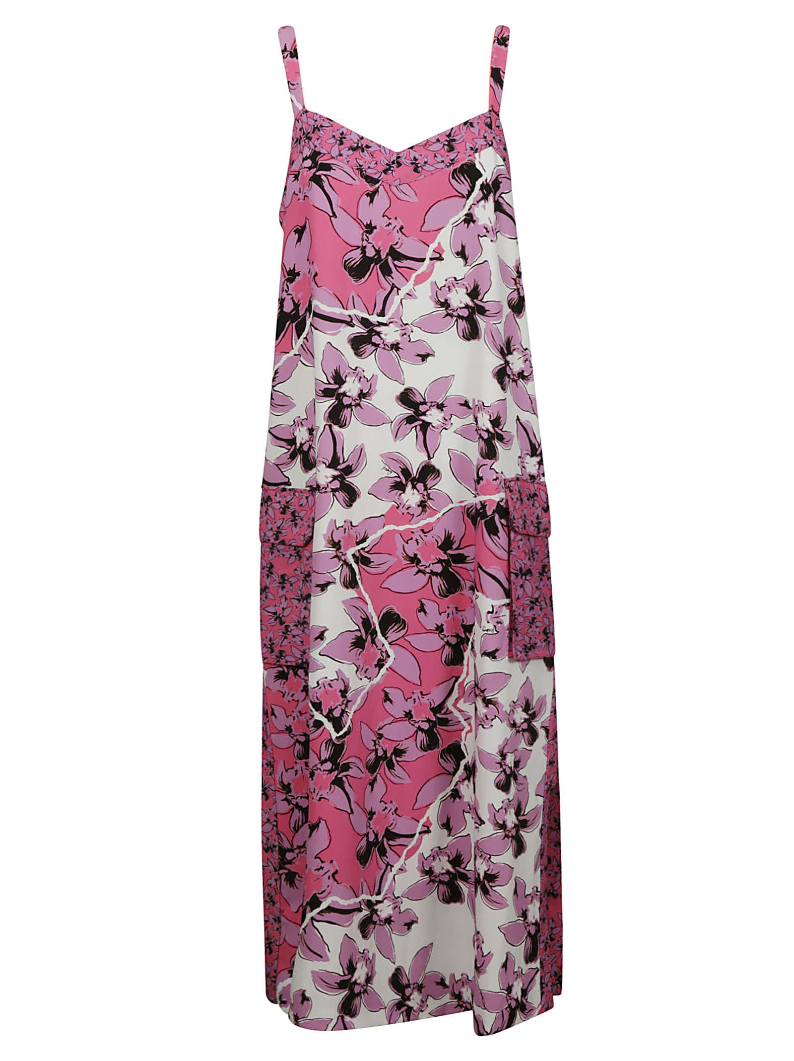 Buy Iceberg Floral Print Sleeveless Dress online, shop Iceberg with free shipping
