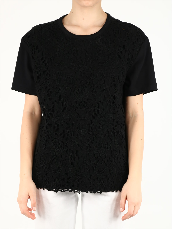 Valentino BLACK MACRAME T-SHIRT