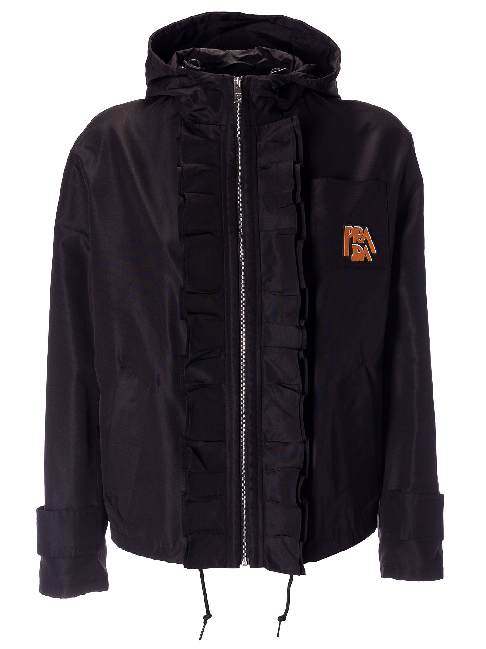 Prada Ruffled Detail Windbreaker
