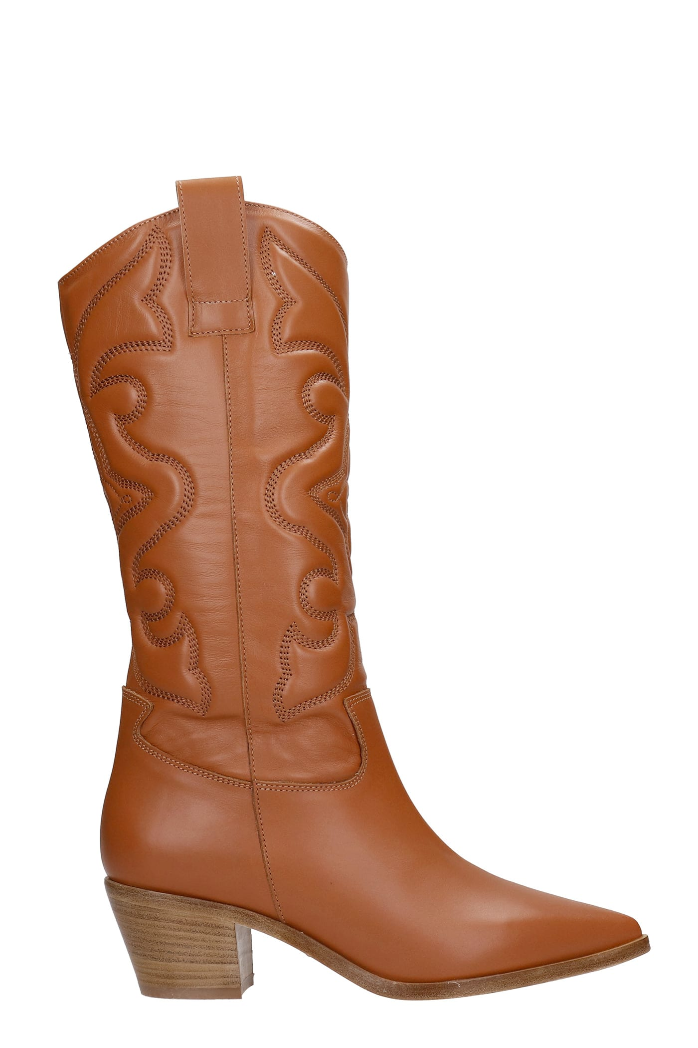 Texan Boots In Leather Color Leather