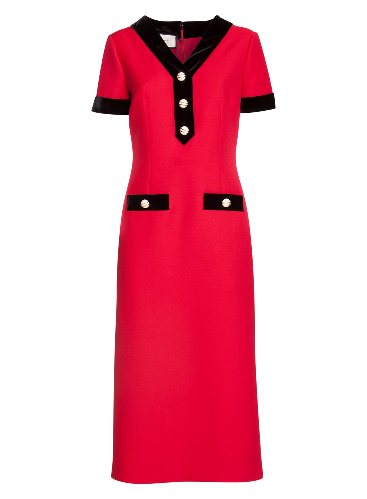 Buy Buttoned Midi Dress online, shop Gucci with free shipping