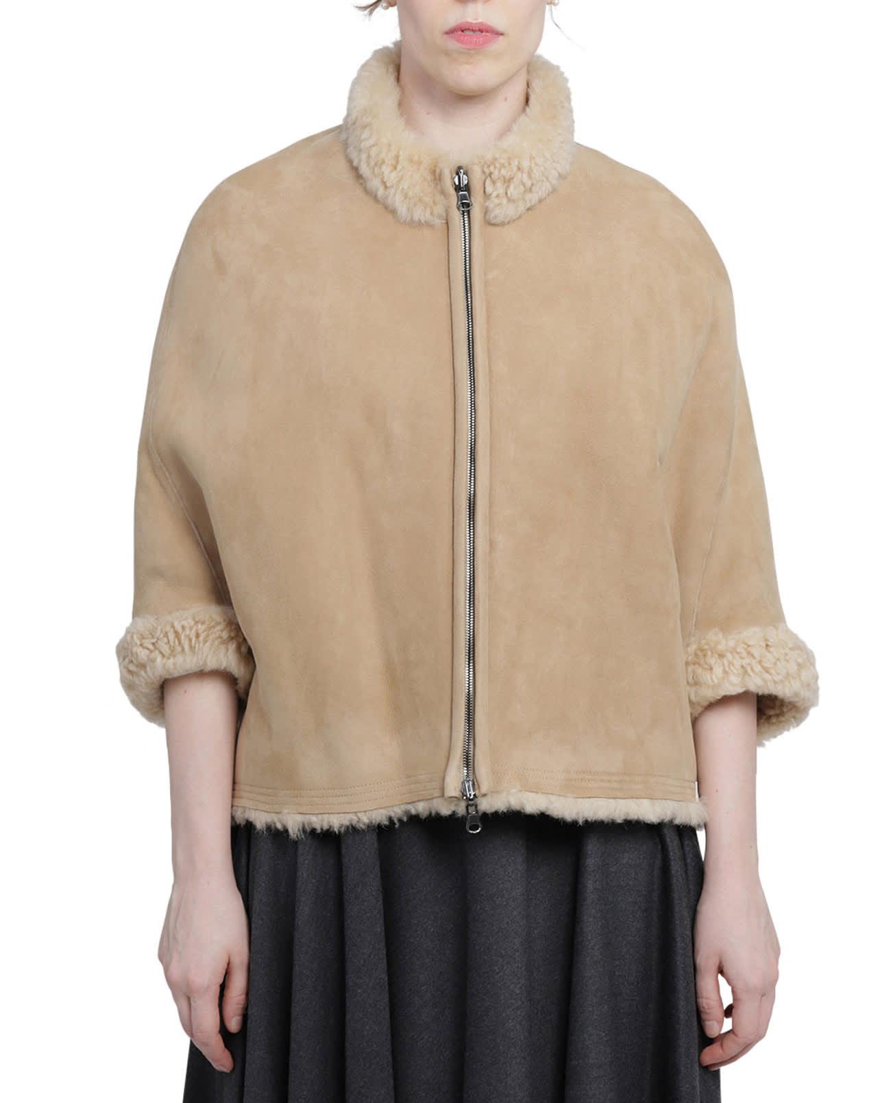 Portofino Beige Shearling Jacket