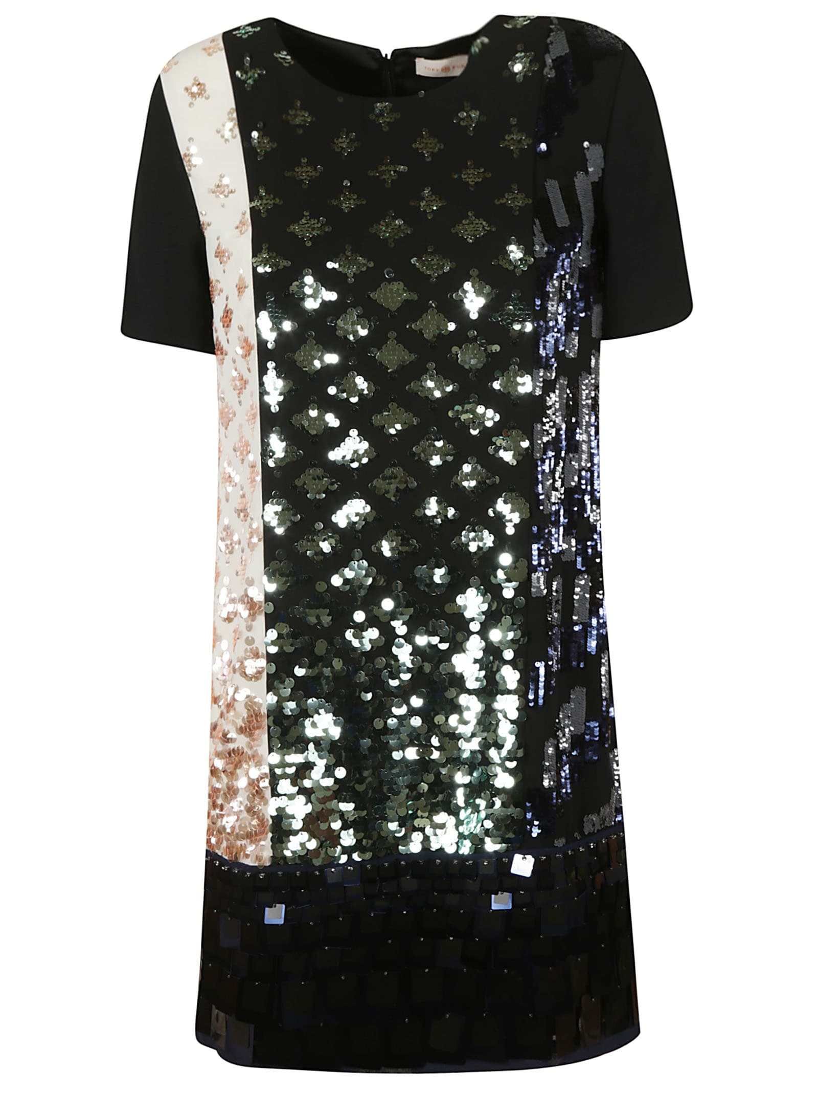 Buy Tory Burch Color-block Sequin T-shirt Dress online, shop Tory Burch with free shipping