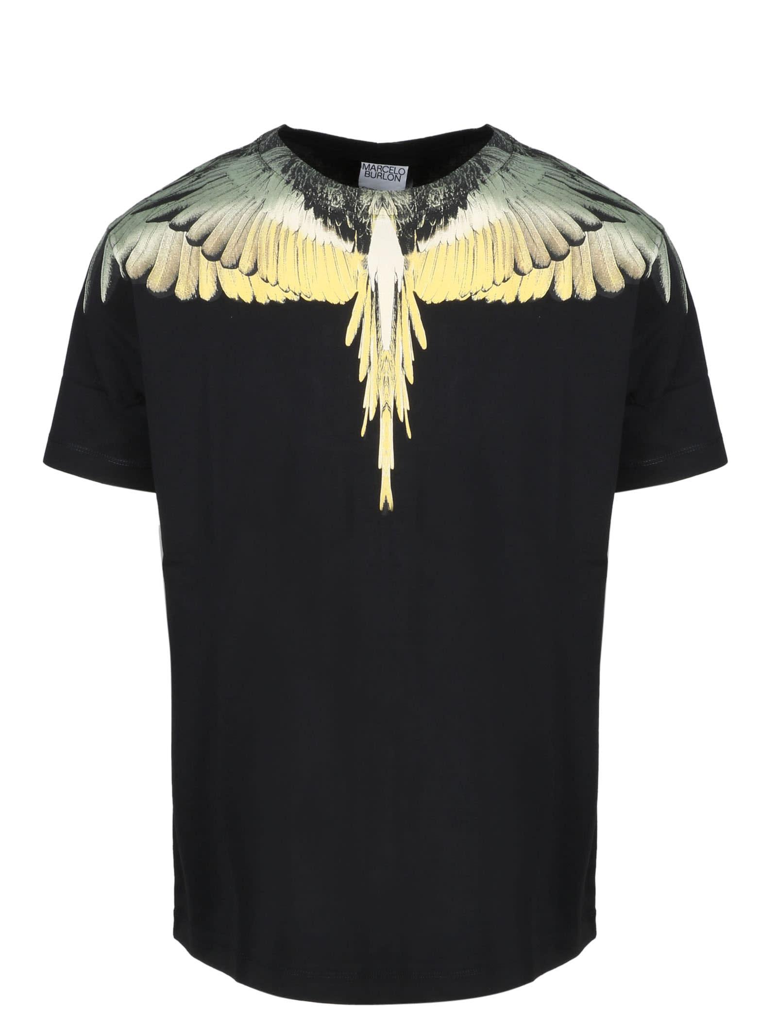 Marcelo Burlon Ocher Wings Basic T-shirt