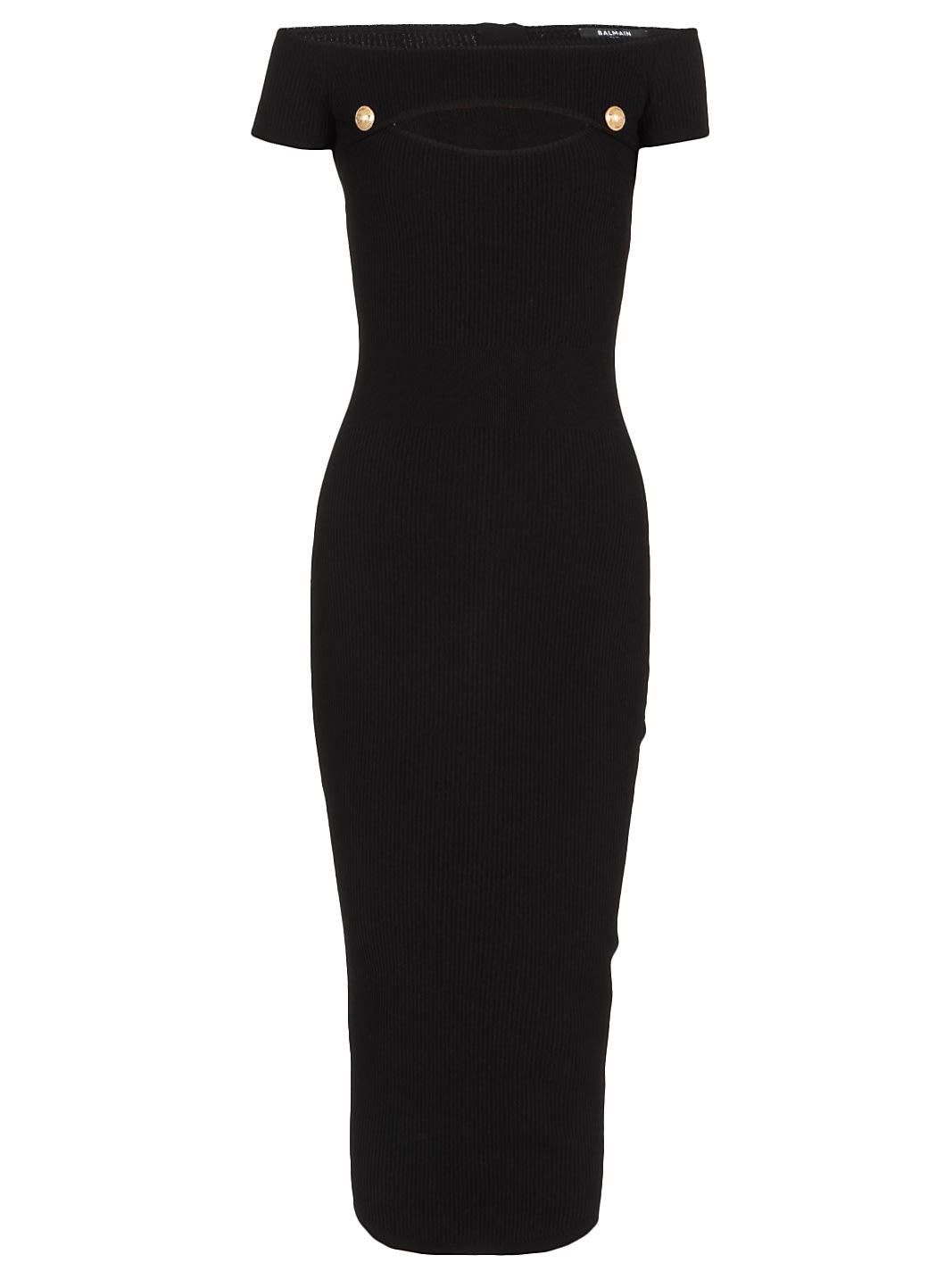 Balmain Knitted Stretch Dress