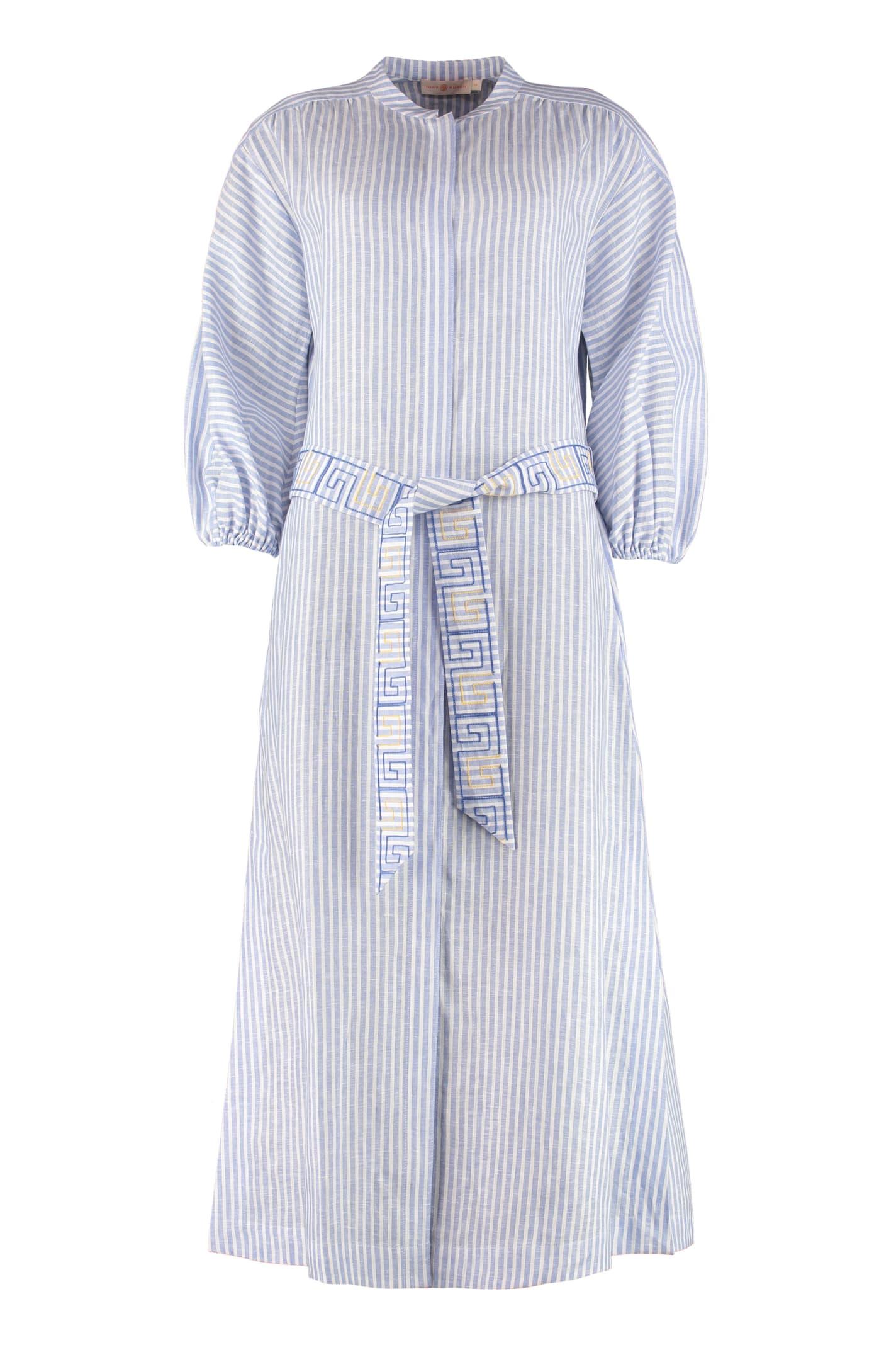 Buy Tory Burch Linen Maxi Dress online, shop Tory Burch with free shipping