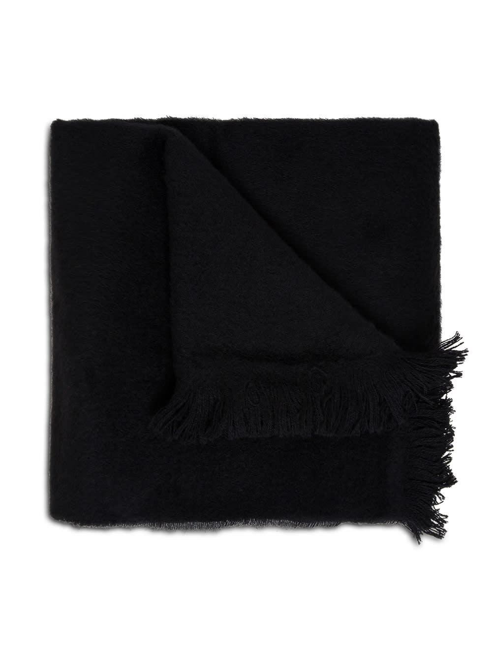 Jucca Black Wool Scarf