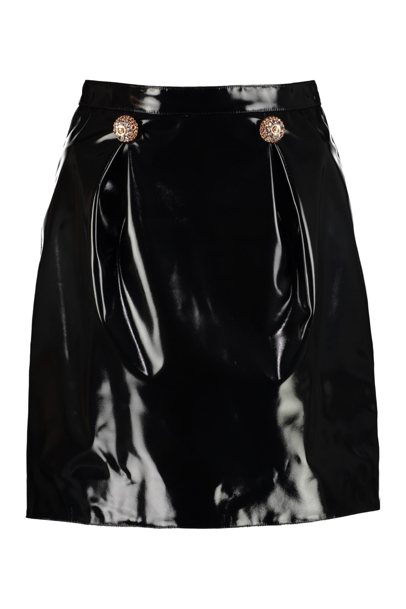 purchase cheap best supplier best price Best price on the market at italist | Versace Versace Faux Leather Mini  Skirt