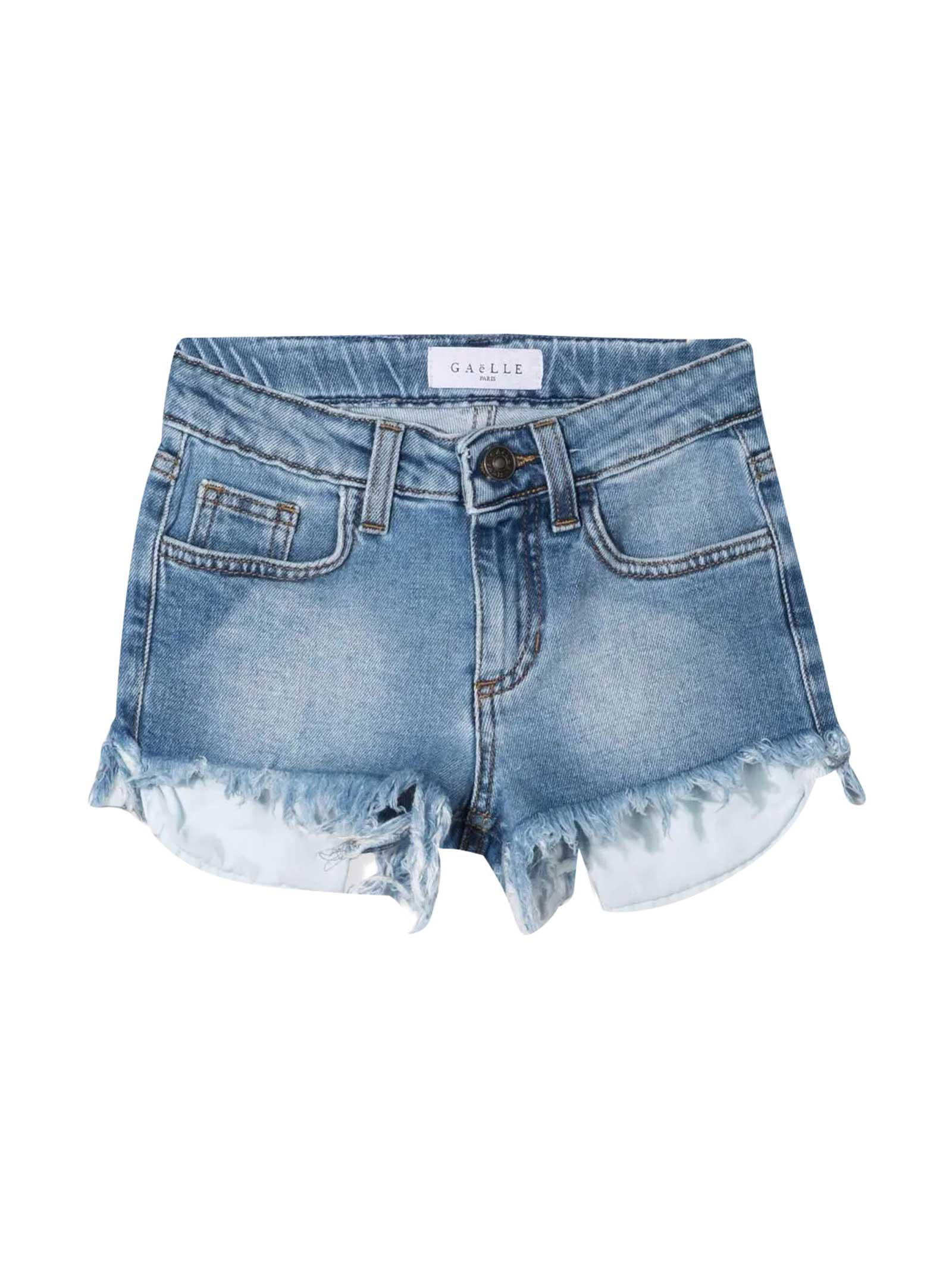 Teen Denim Shorts With Print