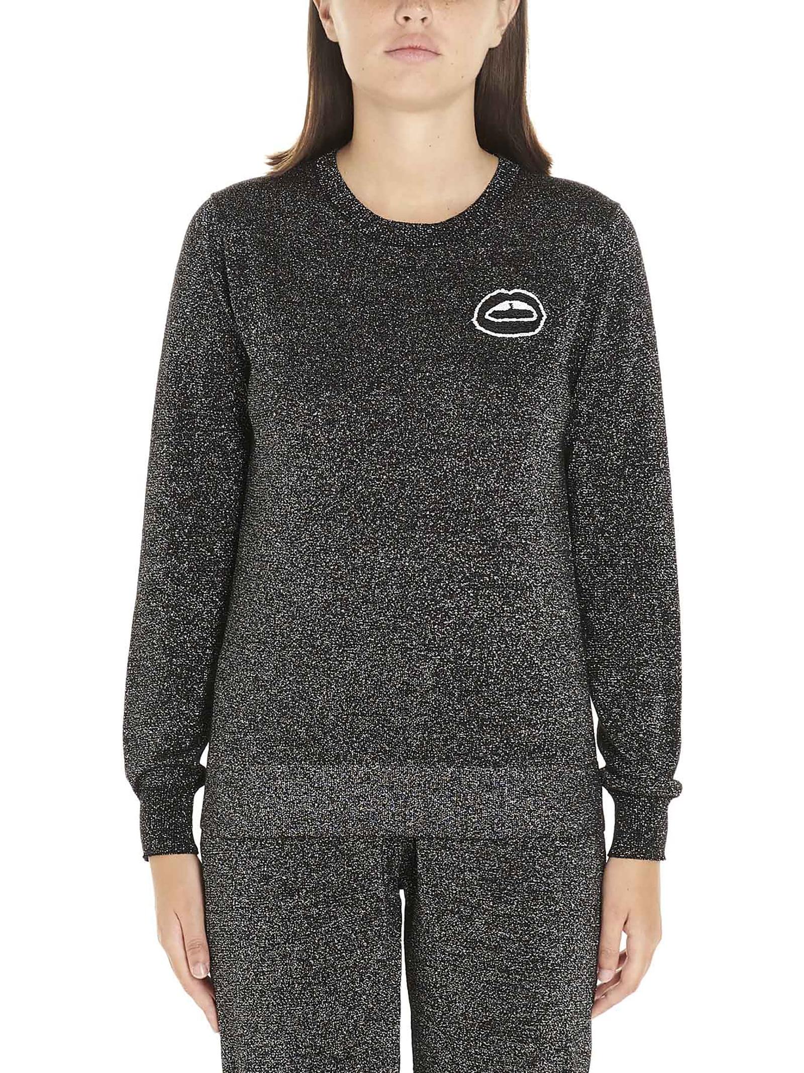 tracy Sequin Lara Lip Lurex Sweatshirt