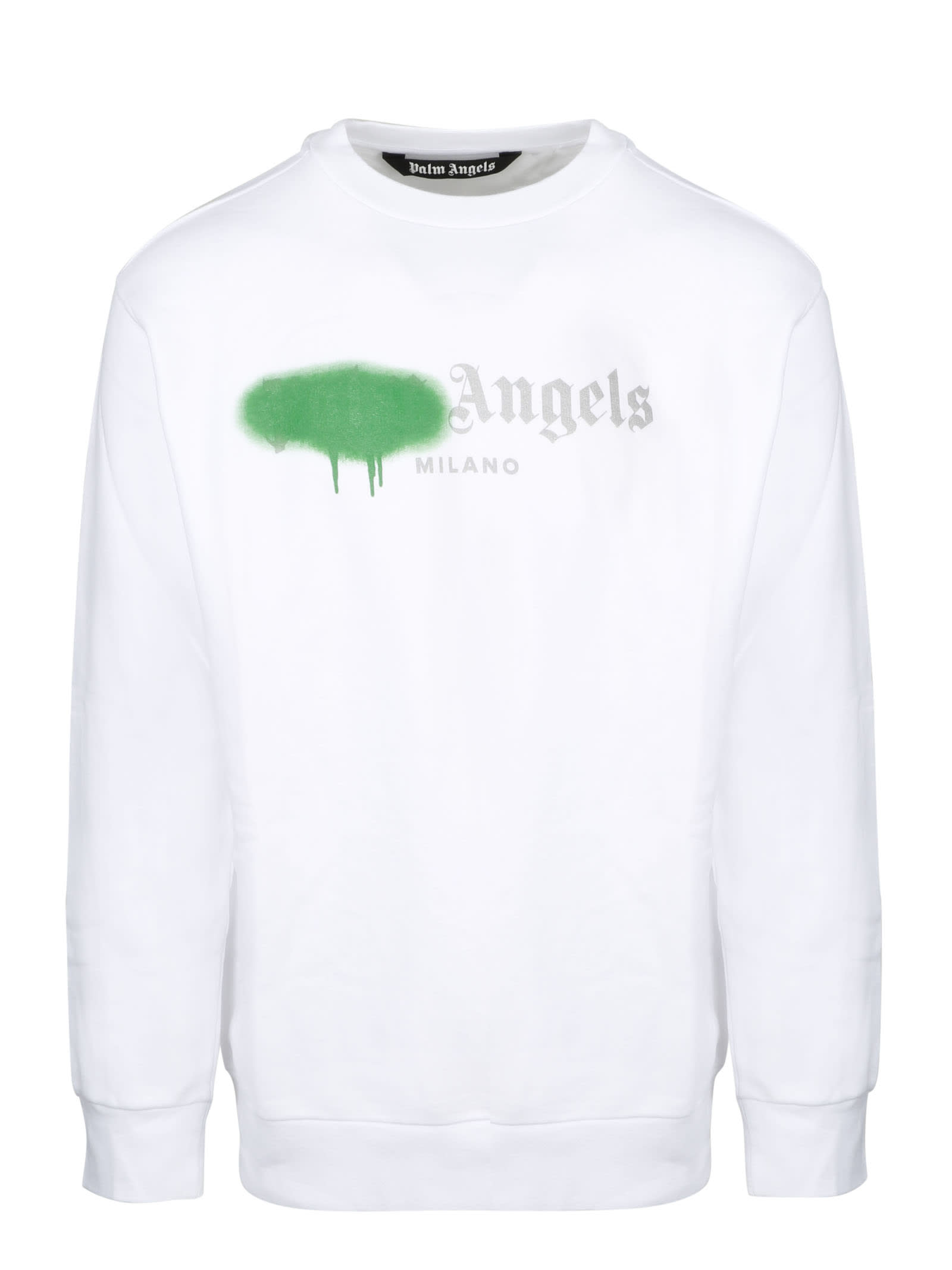 Palm Angels Milano Sprayed Logo Sweatshirt