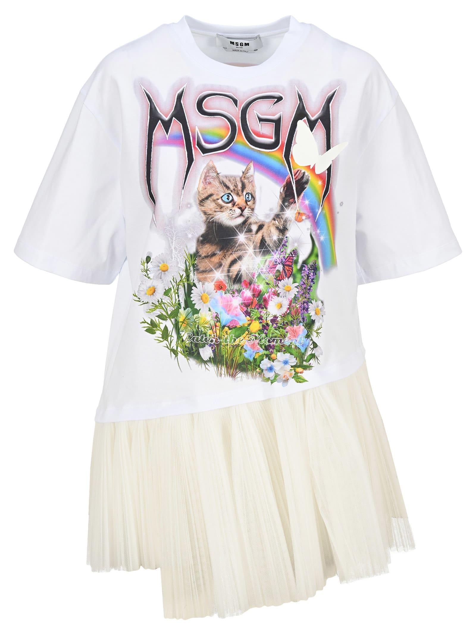 Msgm MSGM TSHIRT CAT TOU TOU