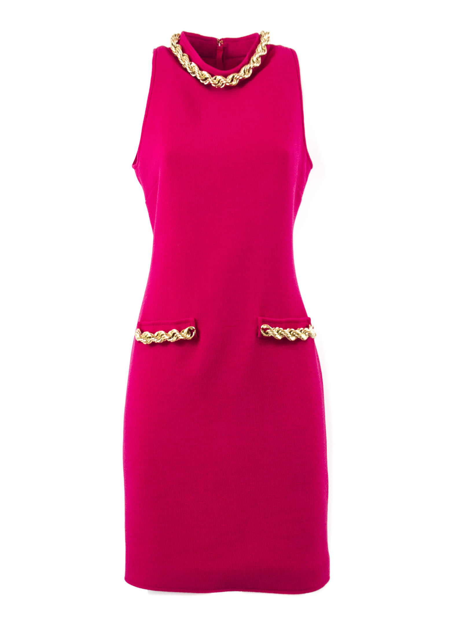 Moschino Fuchsia Virgin Wool Dress