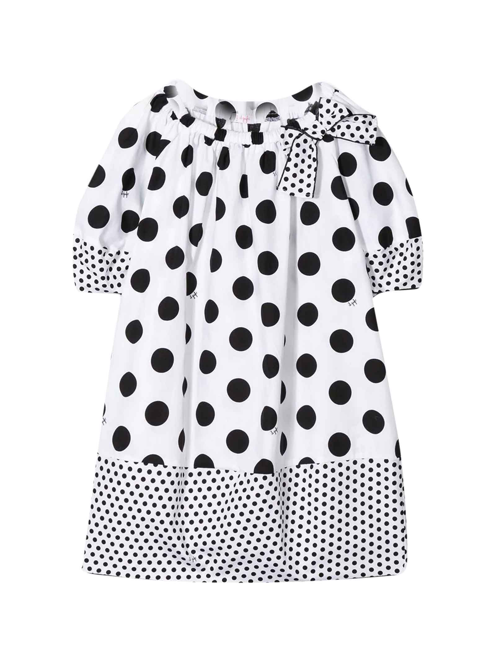 Buy Il Gufo White Polka-dot Dress online, shop Il Gufo with free shipping
