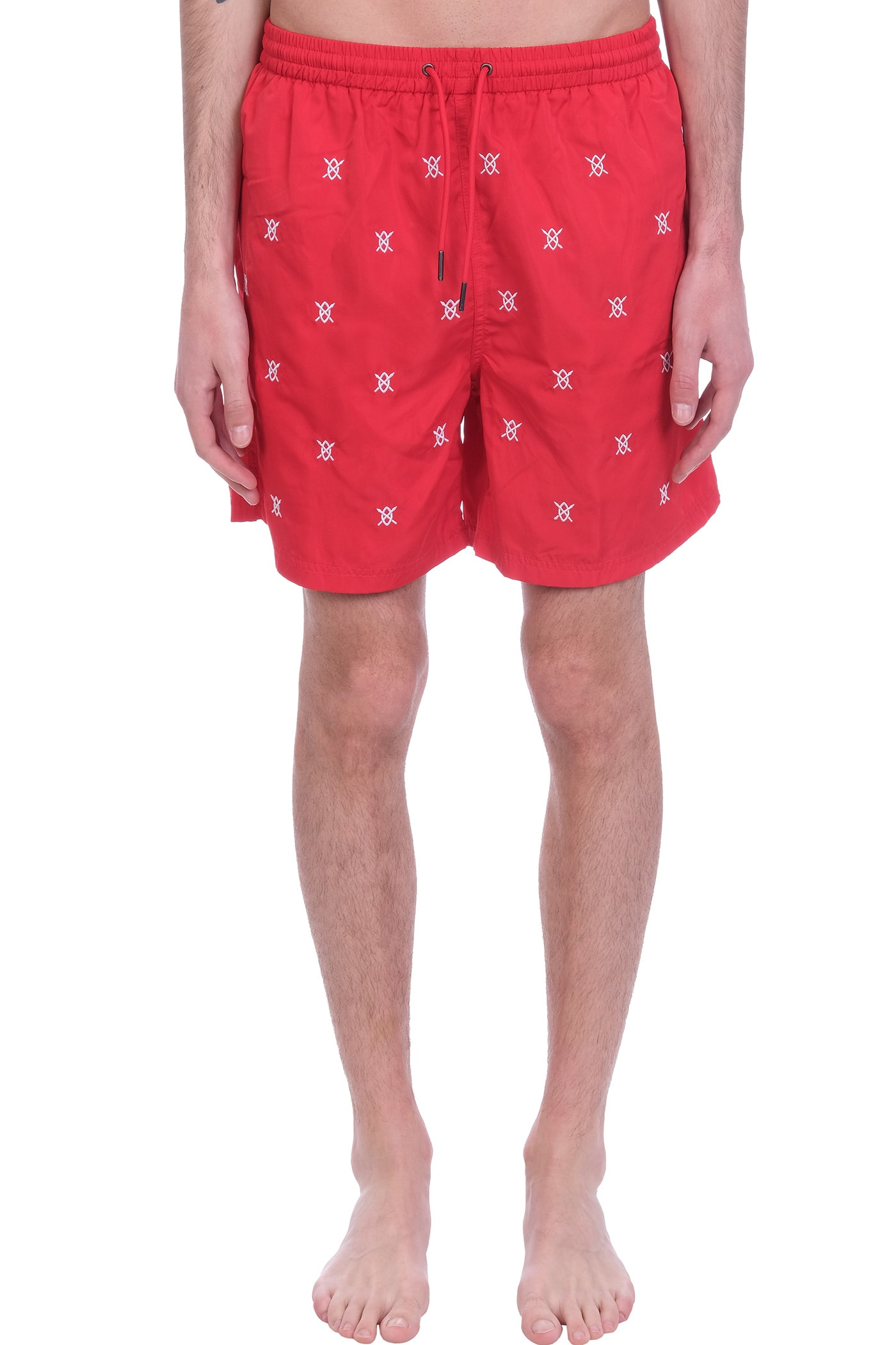 Daily Paper Clothing BEACHWEAR IN RED POLYESTER