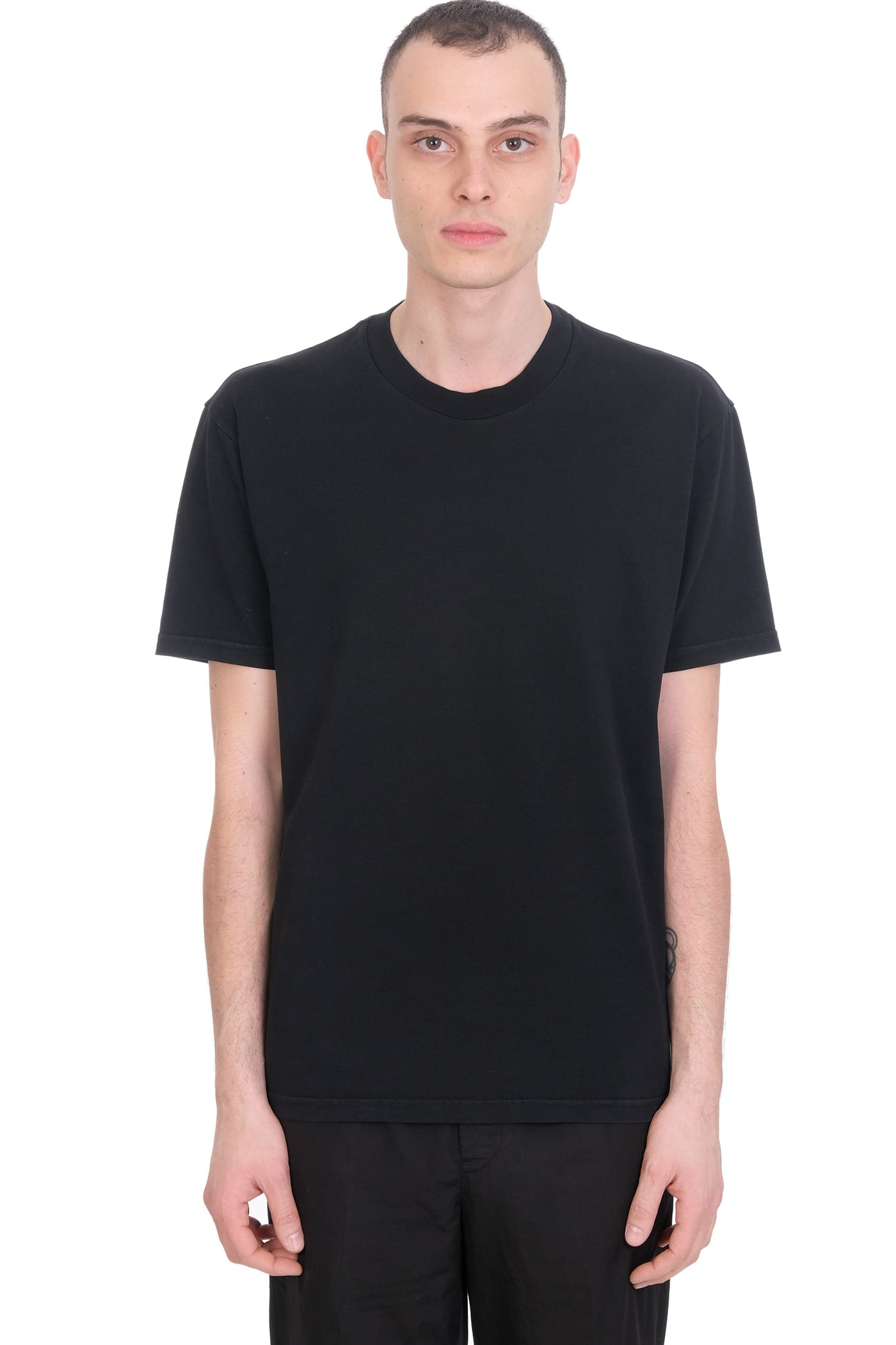 T-shirt In Black Jersey