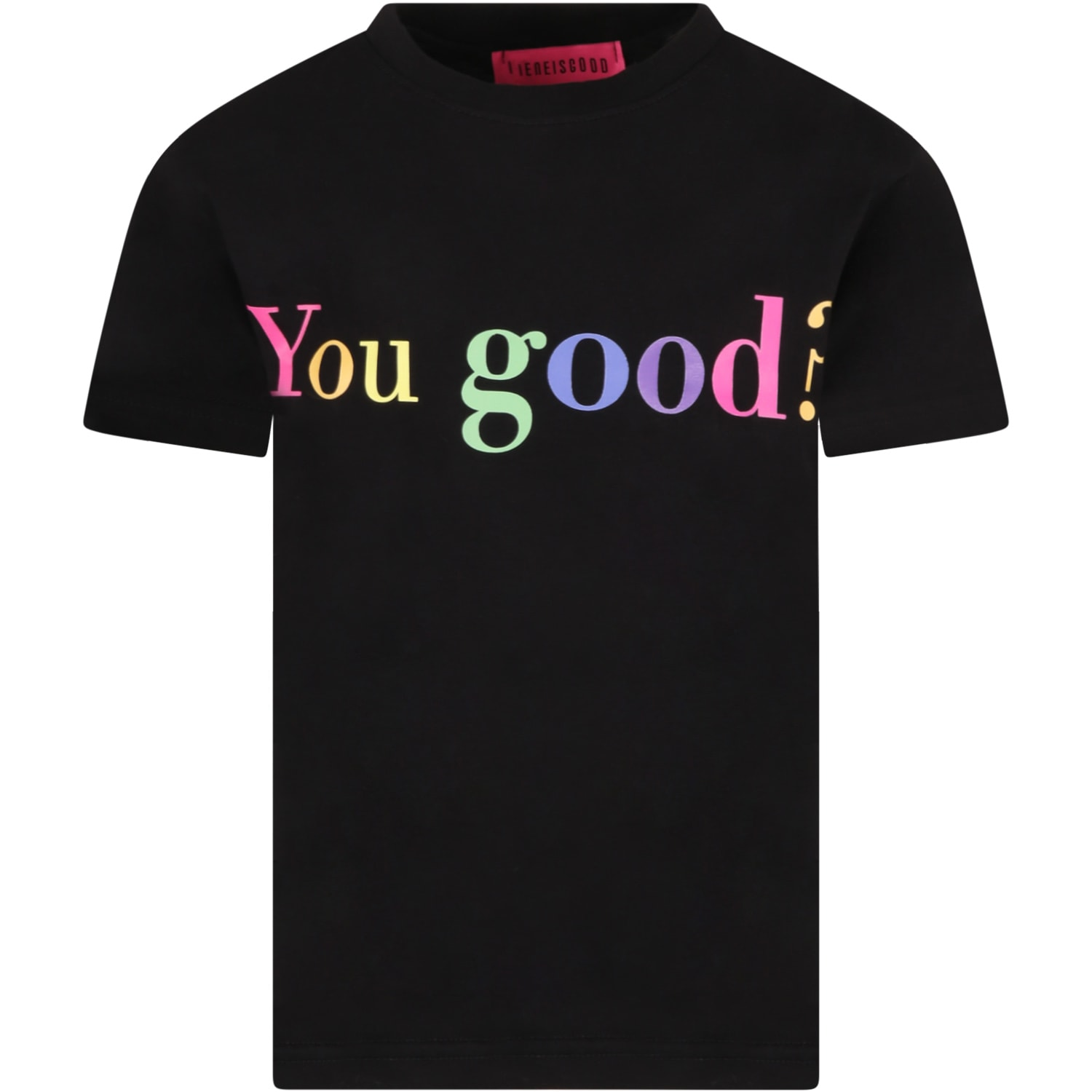 Black T-shirt For Girl With Writing