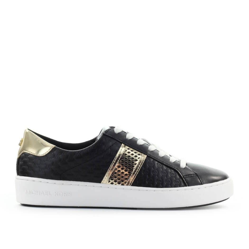 Michael Kors Irving Stripe Lace Up Black Sneaker