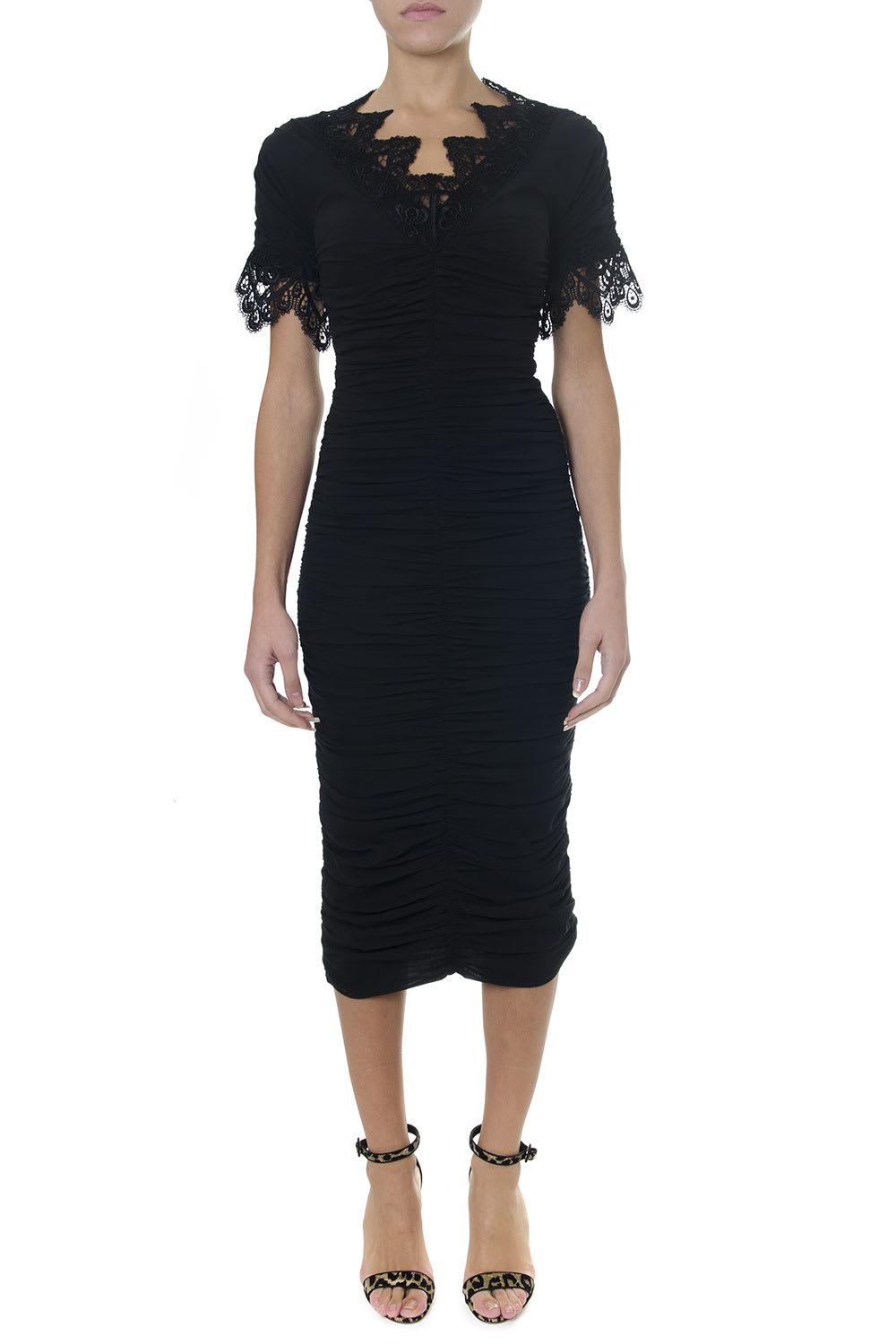 Dolce & Gabbana Black Medium-long Georgette Dress