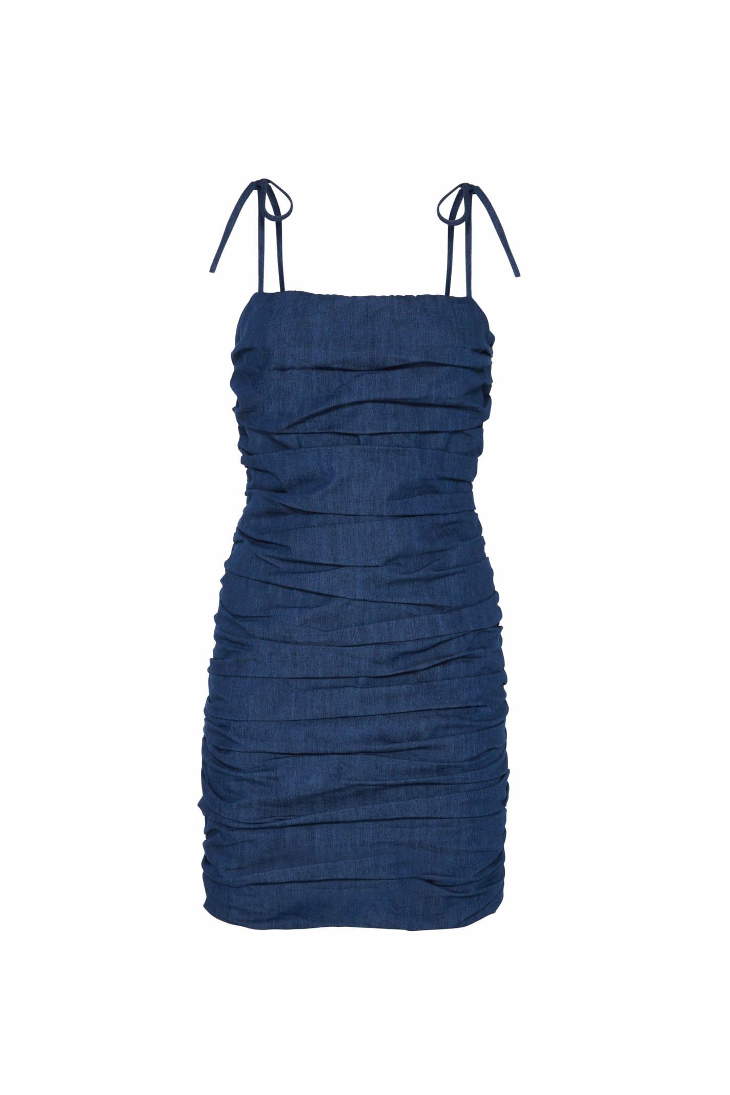 Buy Amotea Zoe Mini Dress In Denim online, shop Amotea with free shipping