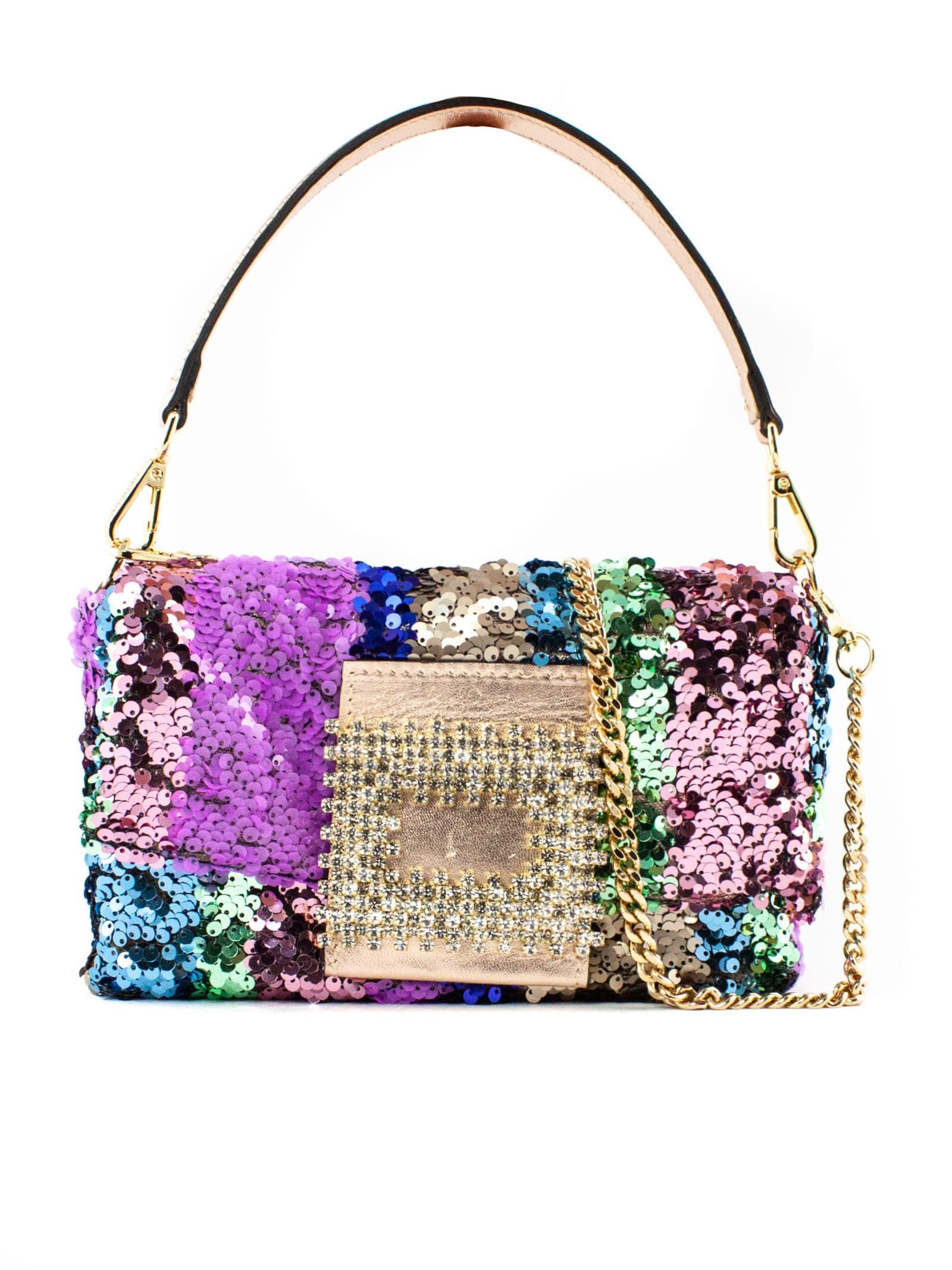 Mylove Shoulder Bag In Multicolor Paillettes
