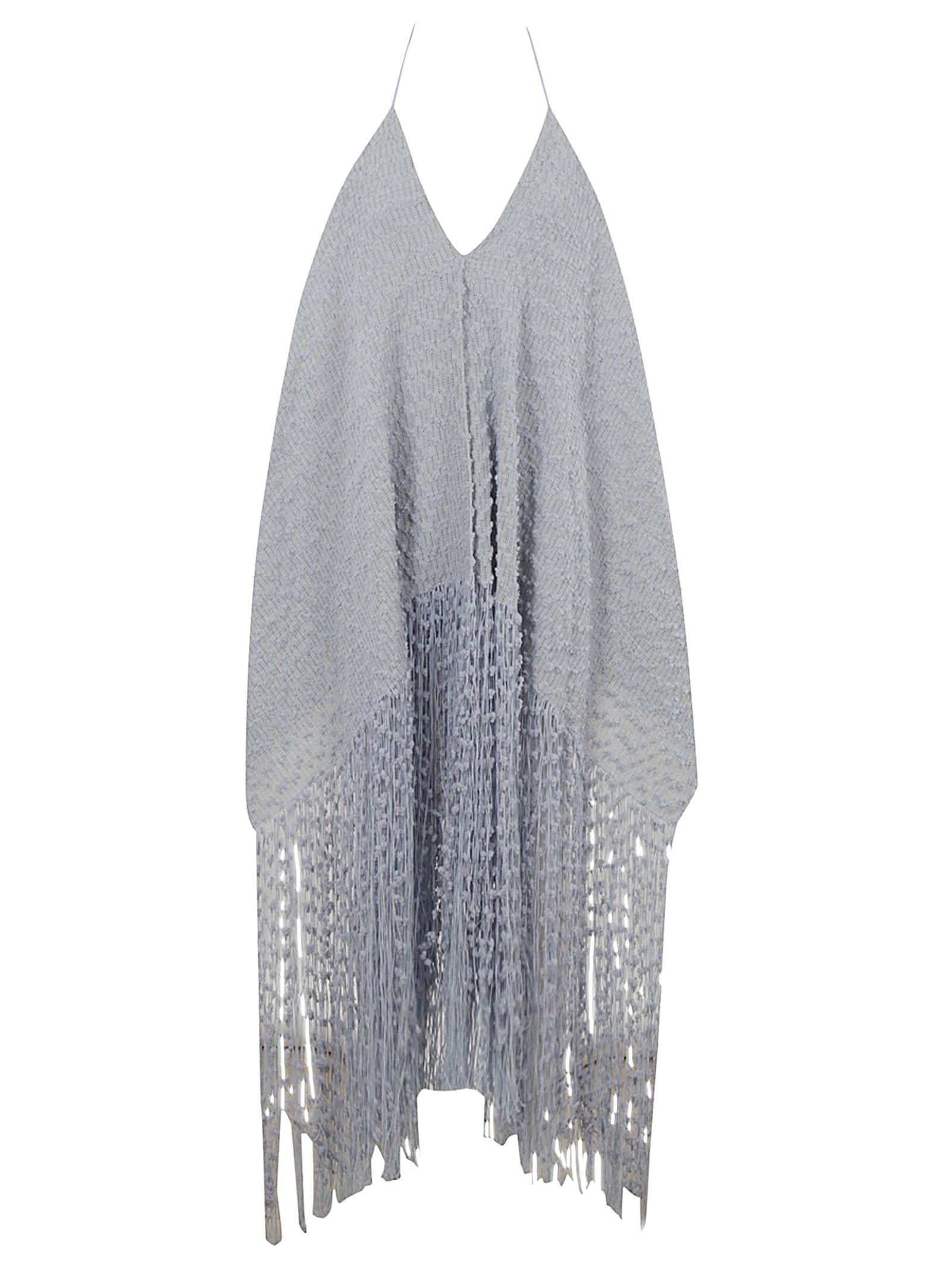 Buy Jacquemus Asymmetric Fringed Hem Dress online, shop Jacquemus with free shipping
