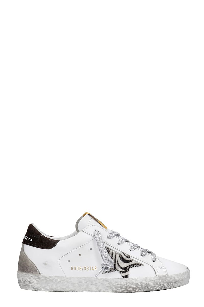Golden Goose Leathers SUPERSTAR SNEAKERS IN WHITE LEATHER
