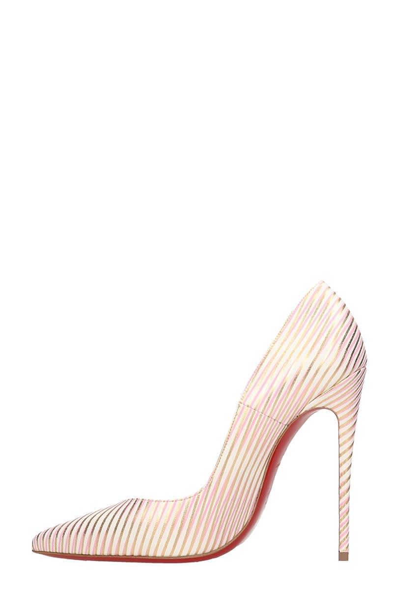 best sneakers bc452 6de68 Christian Louboutin So Kate 120 White Red Gold Leather Pumps