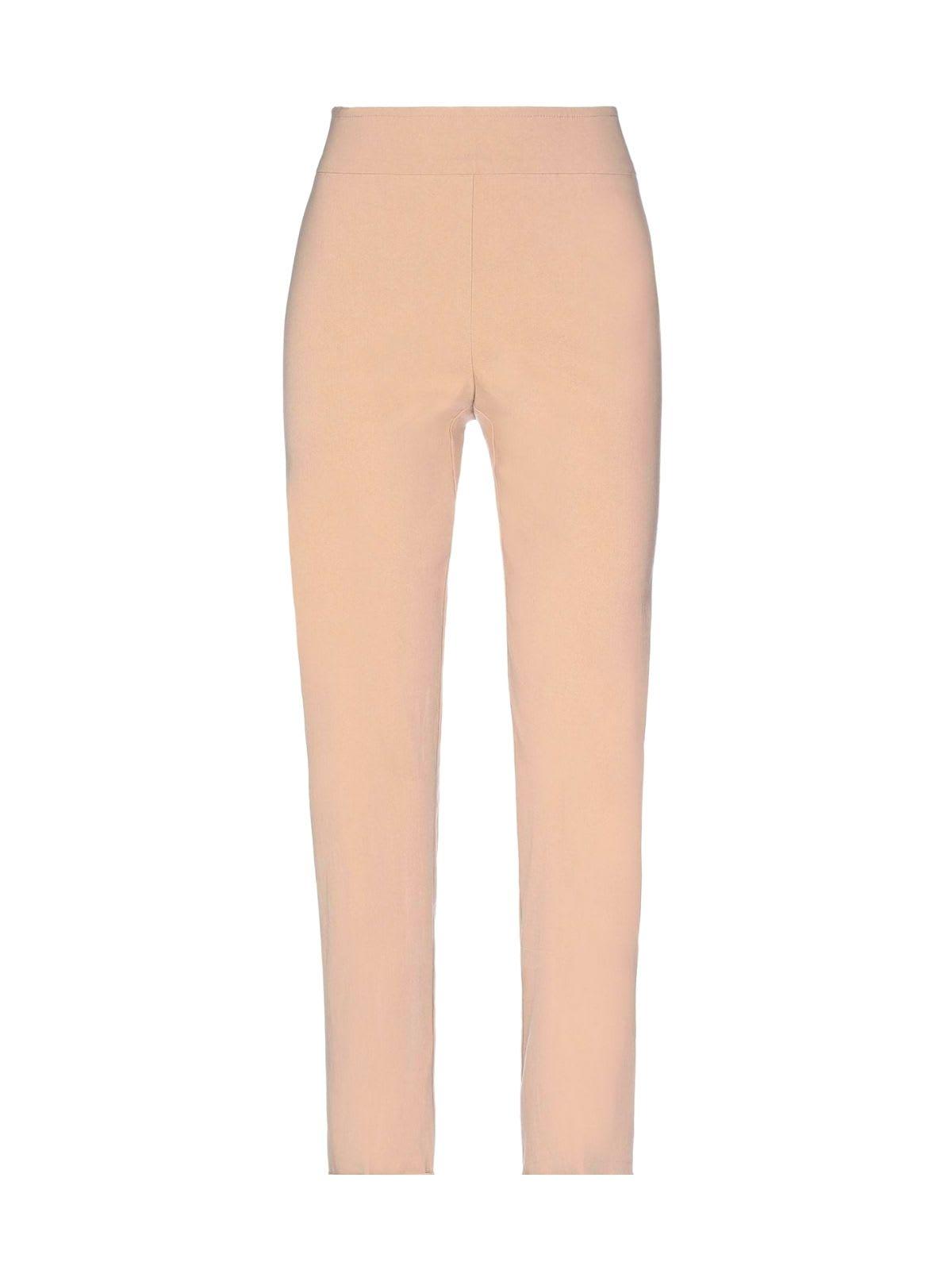Short Slim Pants W/slit On Bottom