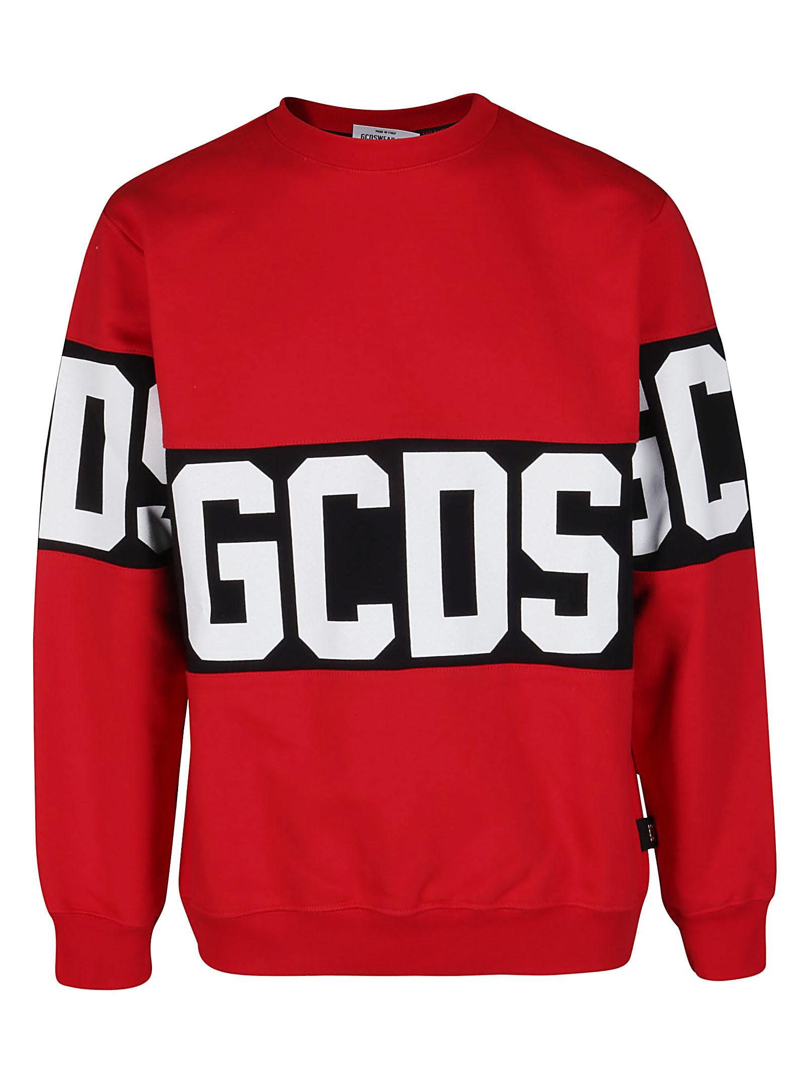 Best Price Gcds Red Cotton Sweatshirt - Top Quality