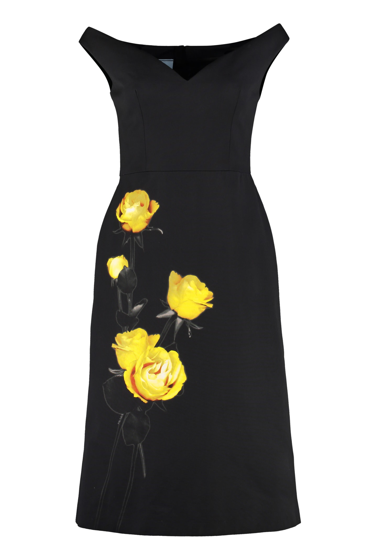 Photo of  Prada Printed Cotton Dress- shop Prada  online sales