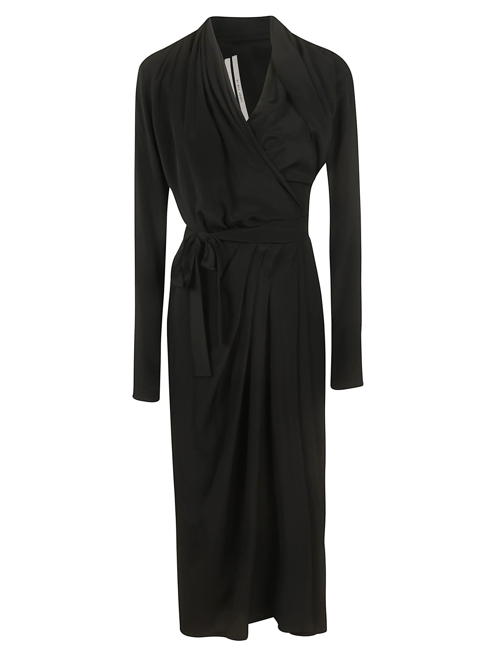 Rick Owens Wrap Ls Dress