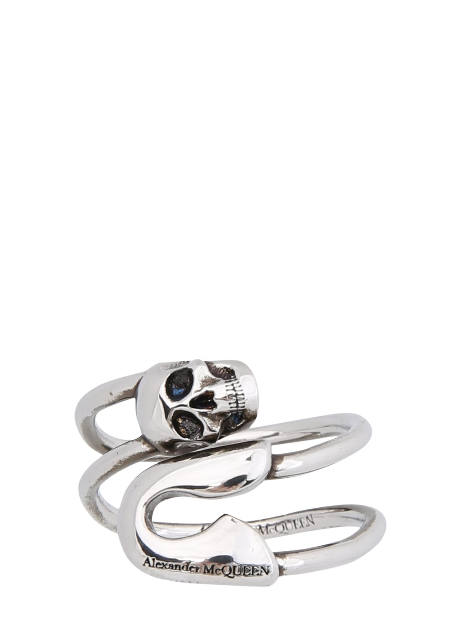 Alexander Mcqueen SAFETY PIN RING