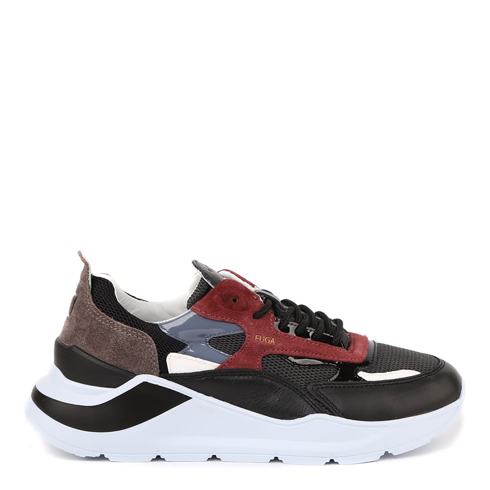 D.A.T.E. Fuga Mesh Sneakers In Suede