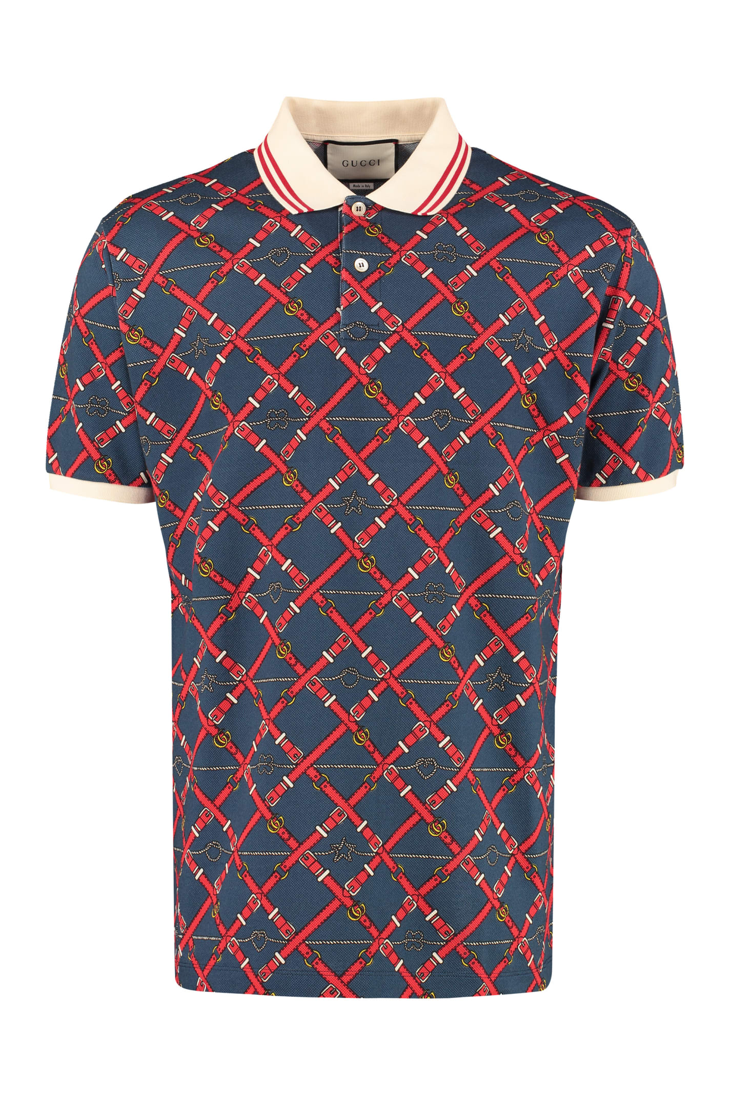 Gucci T-shirts SHORT-SLEEVED COTTON POLO SHIRT