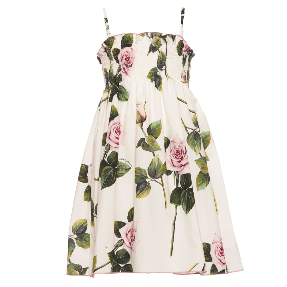Buy Dolce & Gabbana Tropical Rose Dress online, shop Dolce & Gabbana with free shipping