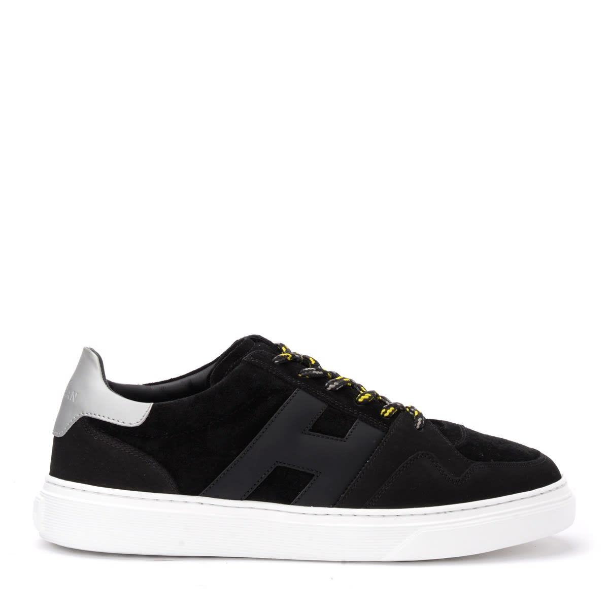 Hogan Sneaker H365 Model In Nubuck And Black Suede