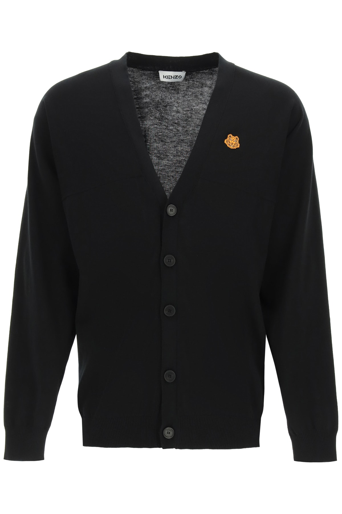 Kenzo OVERSIZED CARDIGAN WITH TIGER CREST PATCH