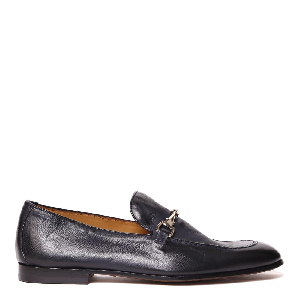 Doucals Dark Blue Leather Loafer