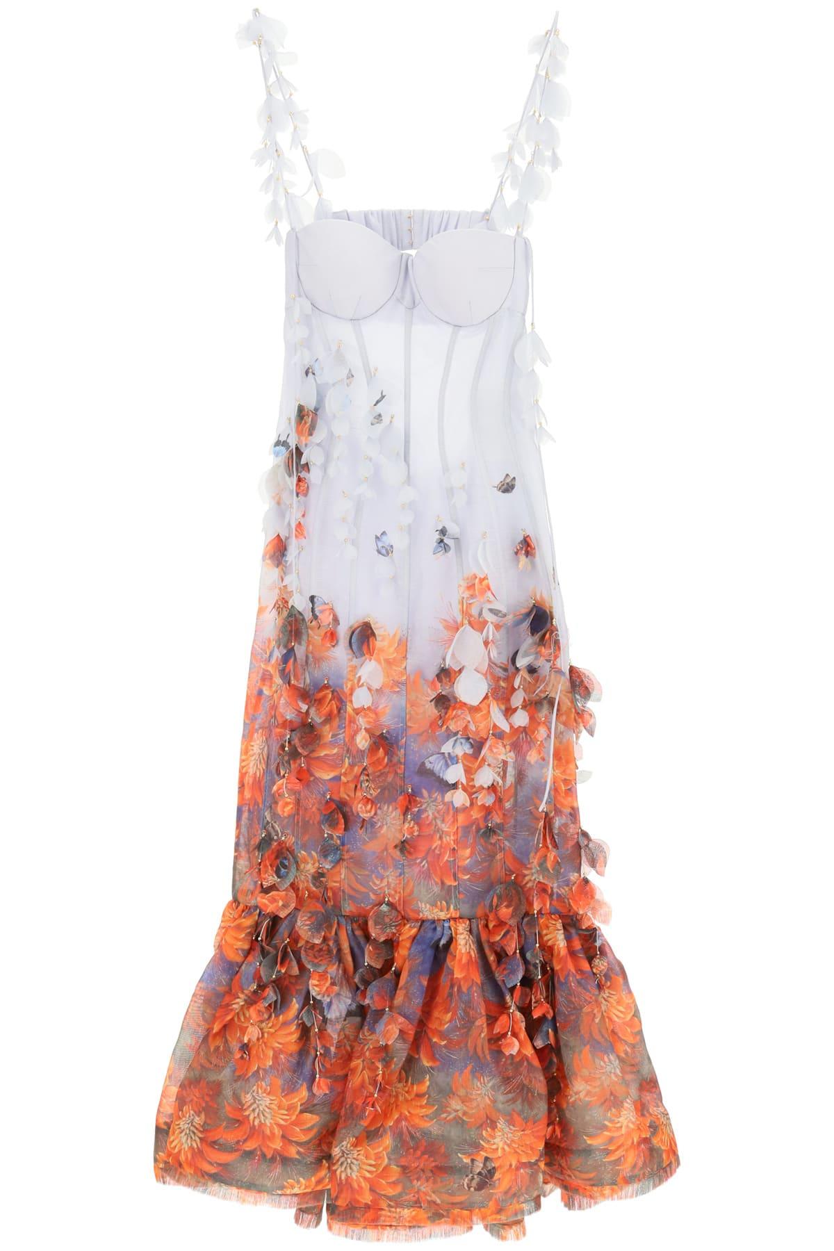 Buy Zimmermann Botanica Dress With Butterflies online, shop Zimmermann with free shipping