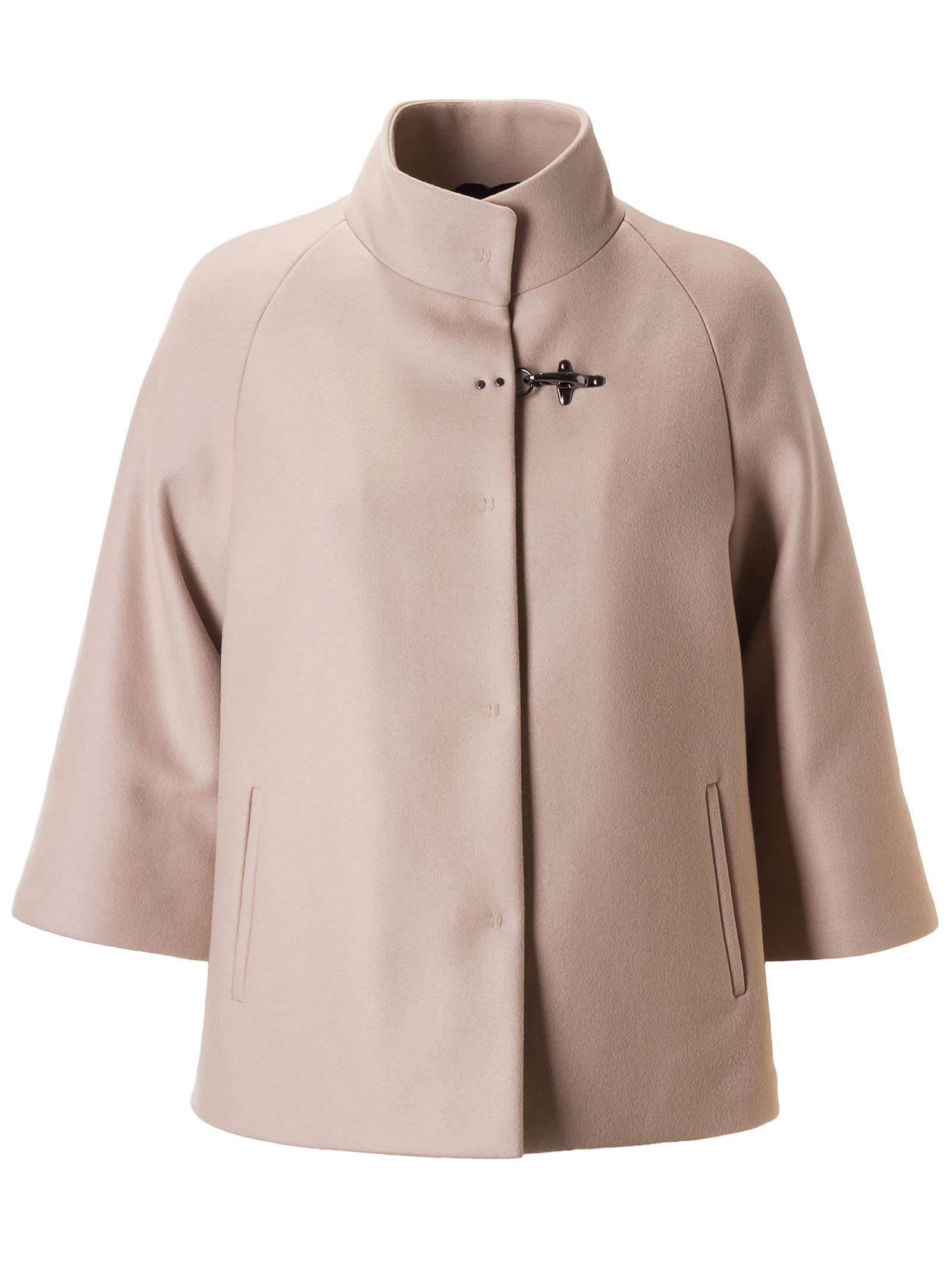 Fay Single Lock Stand-up Collar Coat