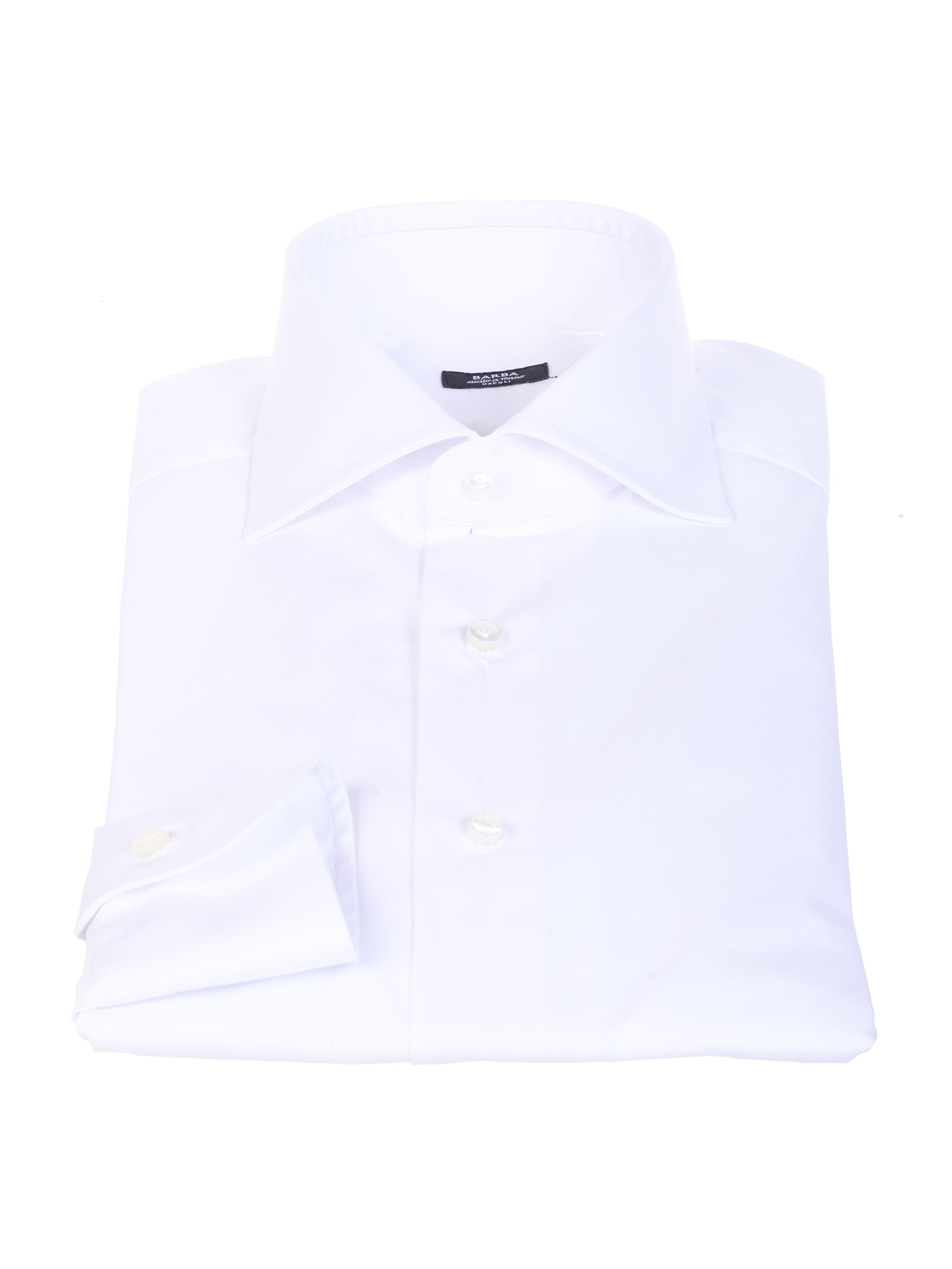 Barba white cotton shirt