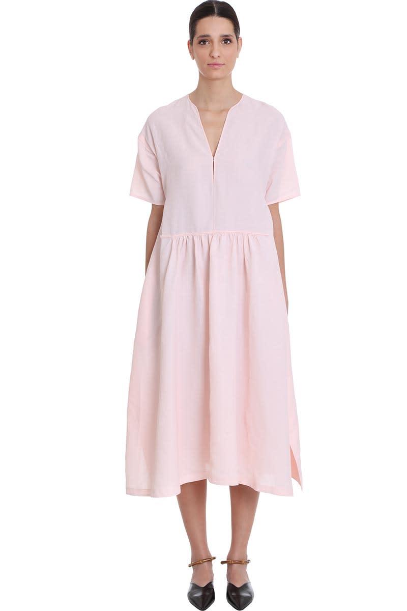 Buy Jil Sander Marabela F Dress In Rose-pink Viscose online, shop Jil Sander with free shipping